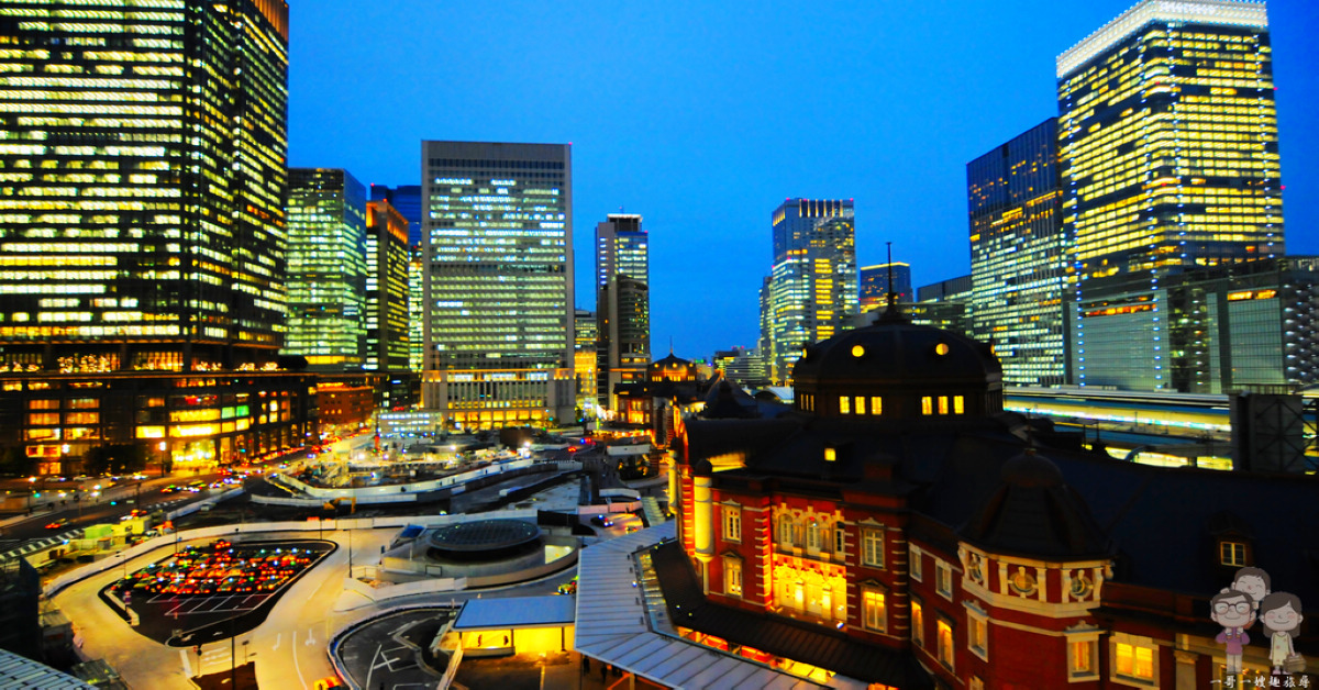 東京車站夜景拍攝地|華麗的白色建築~丸之內 KITTE百貨,六樓露天展望台免費入場
