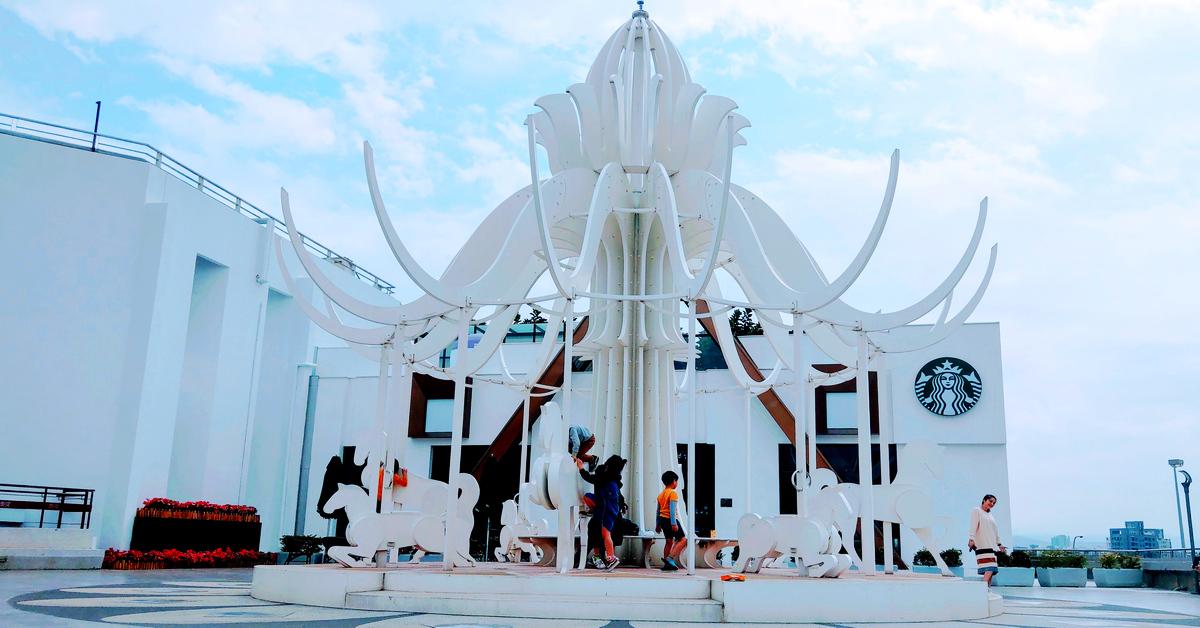 台灣特色星巴克 STARBUCKS 泰安(南)門市!積木城堡外觀,滿是童趣,開在國道一號泰安服務區(南下路段)裡的夢幻咖啡館