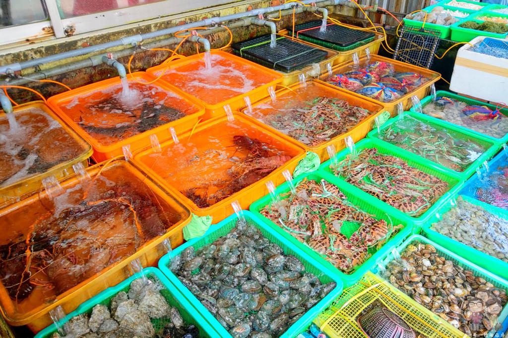 新北石門吃美食|富基漁港-來來海鮮餐廳,北海福座掃完墓的午餐好去處