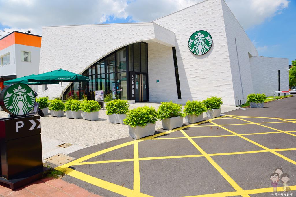 台灣特色星巴克 STARBUCKS淡水雲門門市~藝術與咖啡的相遇,雲門劇場內玻璃咖啡屋~