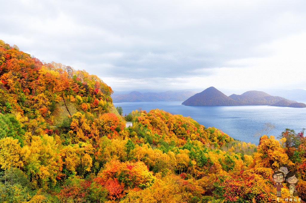 北海道賞楓|洞爺湖八景之月浦展望台,道道578上就有唯美的秋色使人著迷