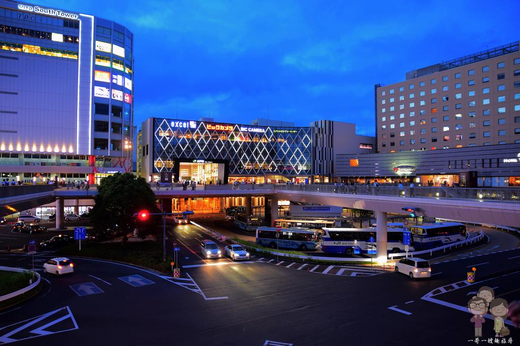 茨城水戶|JR水戶車站南口周邊交通資訊,逛逛EXCEL大樓,搭直達巴士前往茨城機場