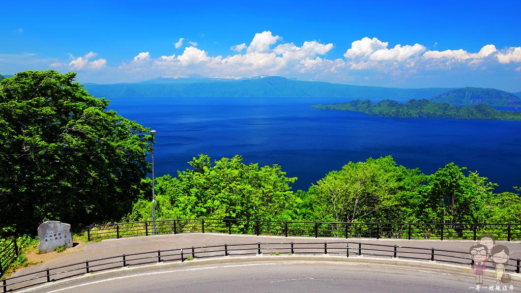 秋田青森交界景點|発荷峠展望台,眺望碧海藍天的十和田湖,順遊『和井內』,一起吹吹風