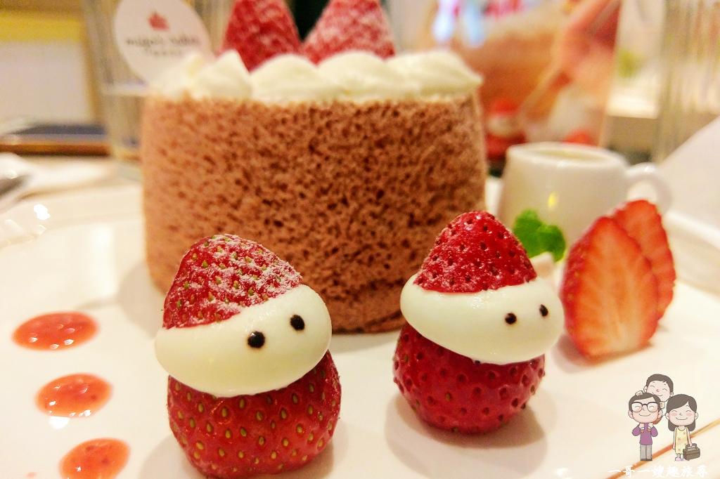 台北吃蛋糕(大同區)|赤峰街甜點~蜜菓拾伍Migo's Cakes,冬季限定的草莓戚風蛋糕,可愛到讓人下不了手