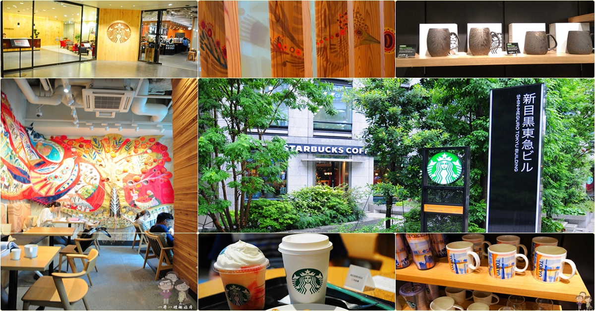 日本特色星巴克|設在日本總部大樓1樓的STARBUCKS 東京目黑店,限定的「和風炭彩馬克杯」,只有這裡買的到